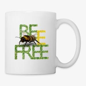 bee free bądż wolna wolny - Kubek