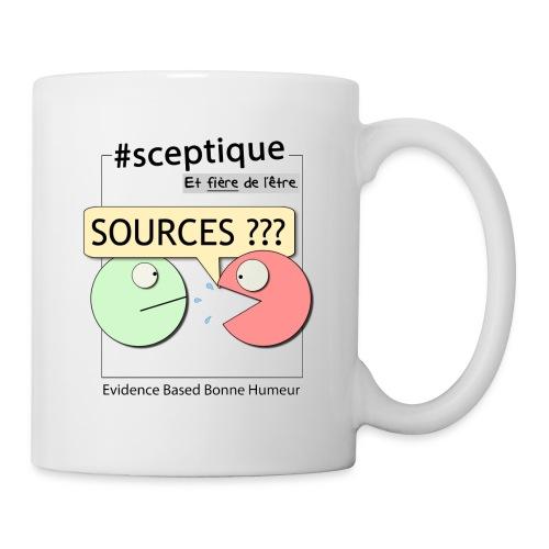 Sceptique et fier de l'être ! (Femme) - Mug blanc