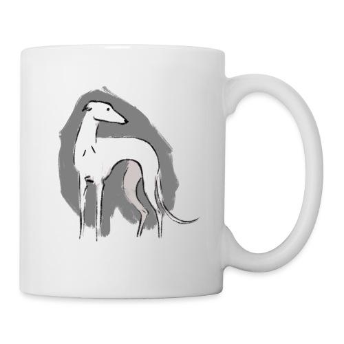 Weißer Windhund - Tasse