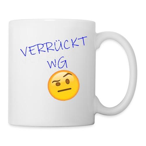 VERRUeCKT WG only text mit emoji - Tasse
