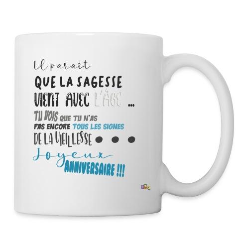 anniversaire Sagesse - Mug blanc