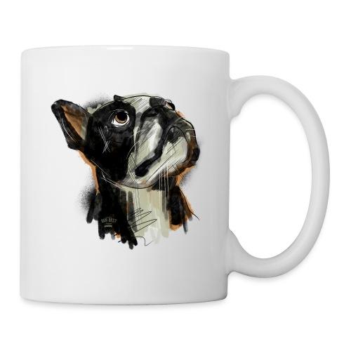 Französische Bulldogge Zeichnung - Tasse