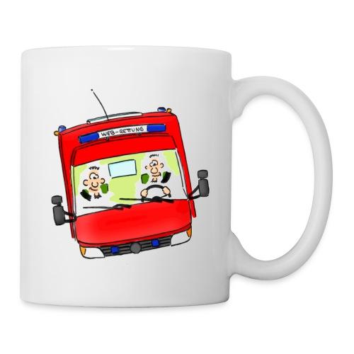 Meisterretter Cartoon Rettungswagen - Tasse