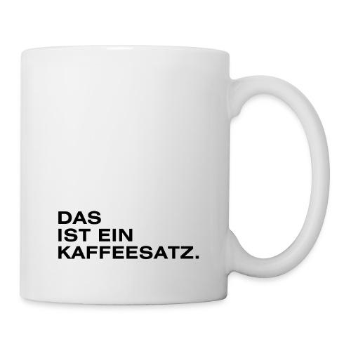 Das ist ein Kaffeesatz. - Tasse