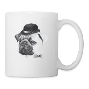 pug with bowler - Kop/krus