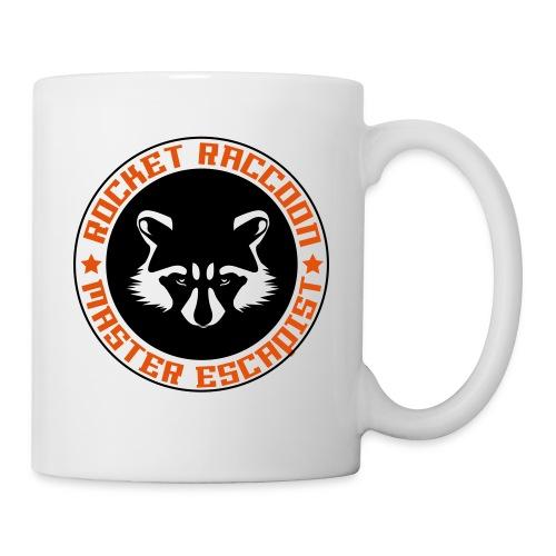 Rocket raccoon logo full - Mug blanc