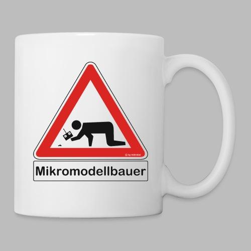 Warnschild Mikromodellbauer Auto - Tasse