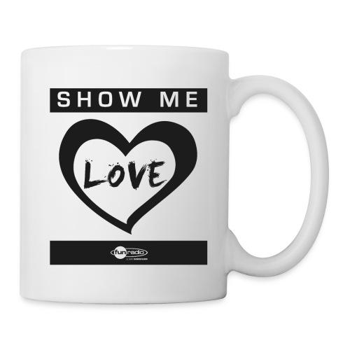 show me love black - Mug blanc