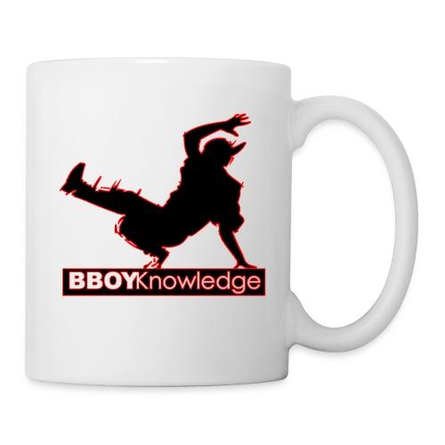 Bboy Knowledge Logo Variation Red - Mug blanc