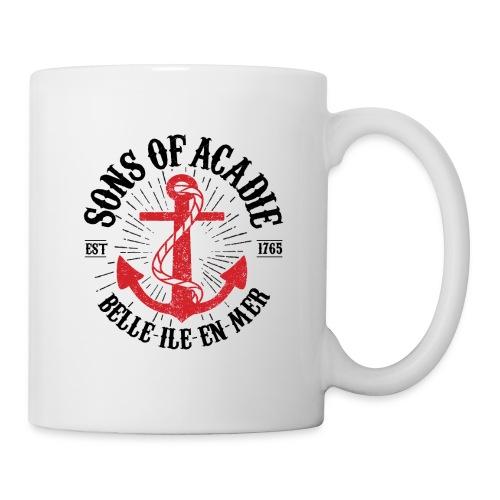 Sons Of Acadie Ancre de Marine - Mug blanc