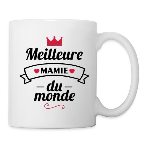 meilleure mamie couronne,cadeau grand-mère - Mug blanc