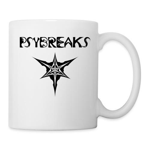 Psybreaks visuel 1 - text - black color - Mug blanc