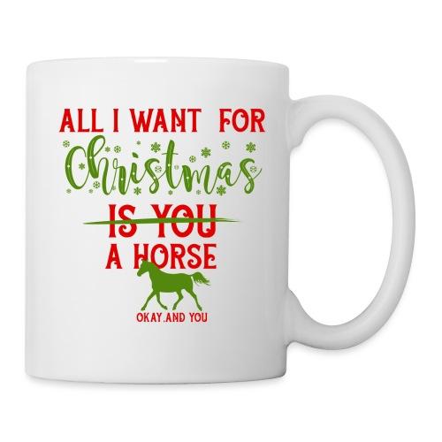 Weihnachts Wunschzettel - Pferd - Tasse