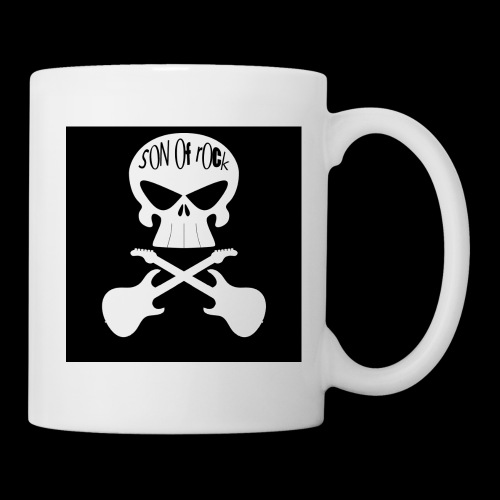 Logo sur fond noir - Mug blanc