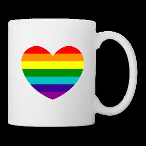 Hart in regenboog kleuren - Mok