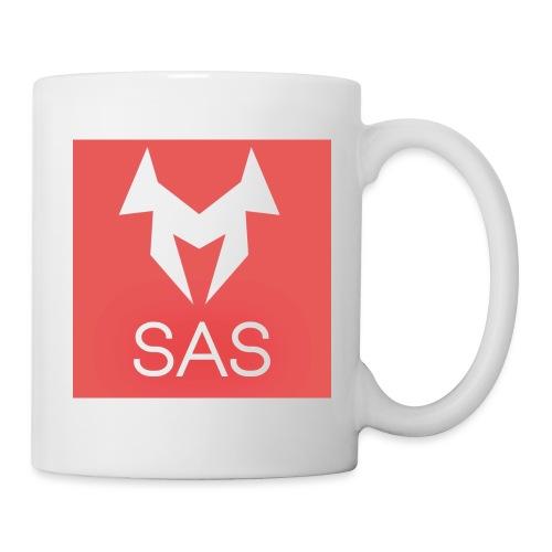 SAS Logo Hintergrund rot - Tasse