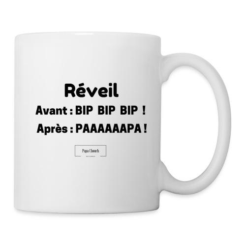 Réveil Papa Noir - Mug blanc