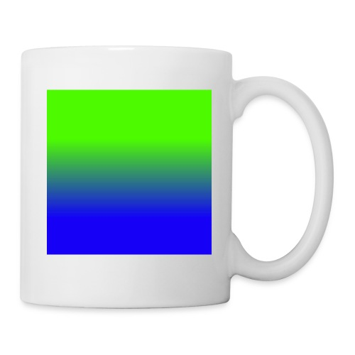 Linear pattern of green and blue - Mug