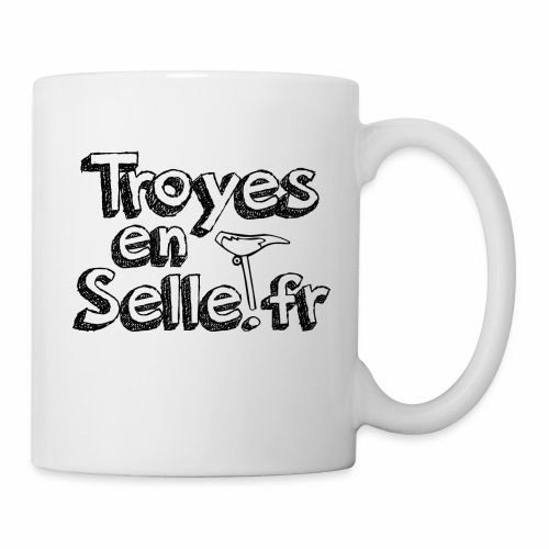 logo Troyes en Selle noir - Mug blanc