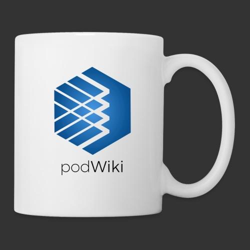 podWiki logo texte png - Mug blanc