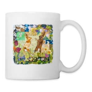 Boxing Hares Design - Mug