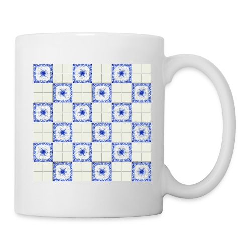DutchieBlue1-Tile Pattern - Mok