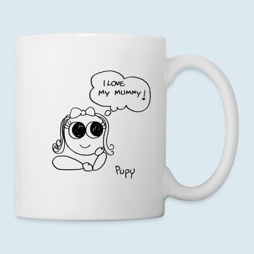 Pupy: I love my mummy! - girl - Tazza