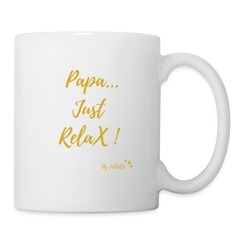 papa just relax - Mug blanc