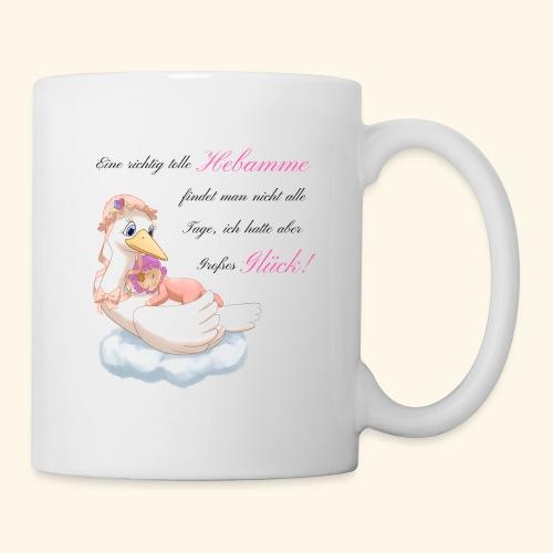 Geschenk fuer Hebamme Grosses Glueck - Tasse