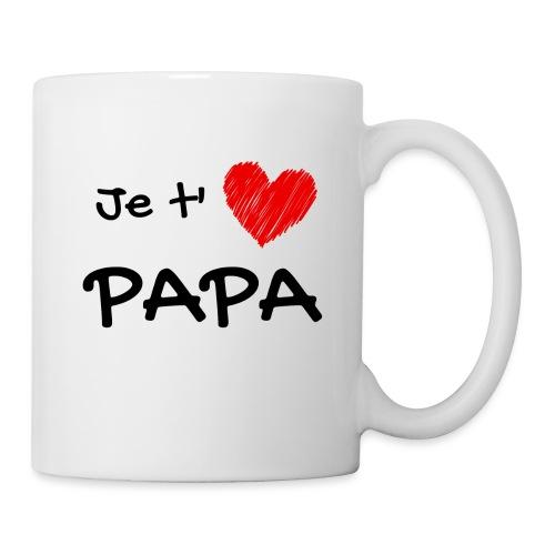 t-shirt fete des pères je t'aime papa - Mug blanc