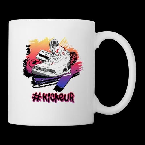 #Kickeur Noir - Mug blanc