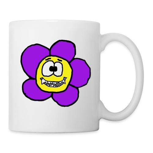 Blume mit Zähnen von roadtripgirl.ch - Tasse