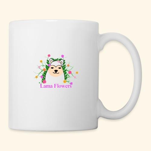 Lama Flowers - Mug blanc