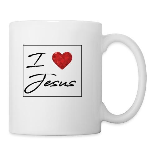 I LOVE JESUS I Christliches Tshirt Ich liebe Gott - Tasse