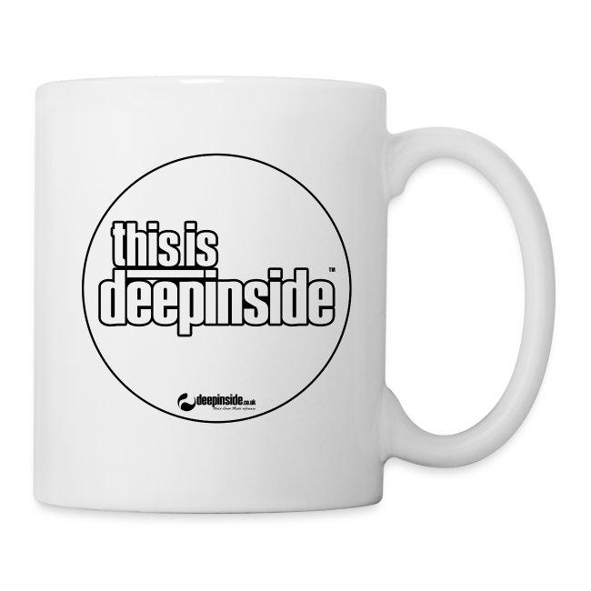 This is DEEPINSIDE Circle logo black