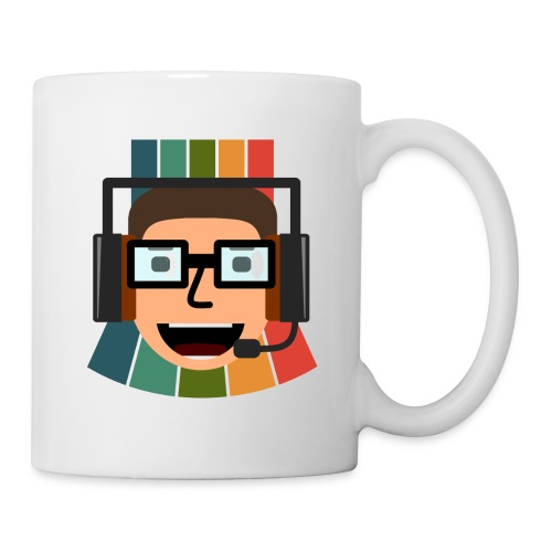 Retros Pixelshow Logo mit Hintergrund - Tasse