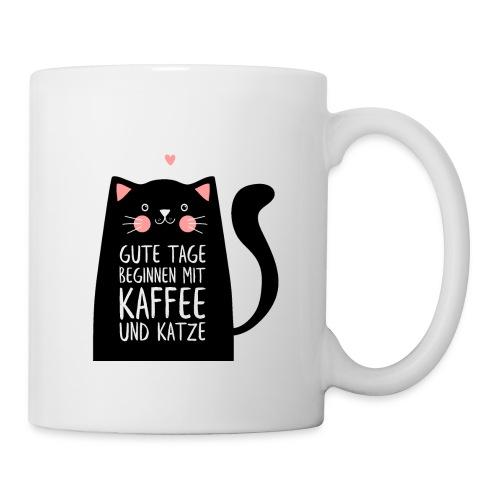 Gute Tage starten mit Kaffee und Katze - Tasse