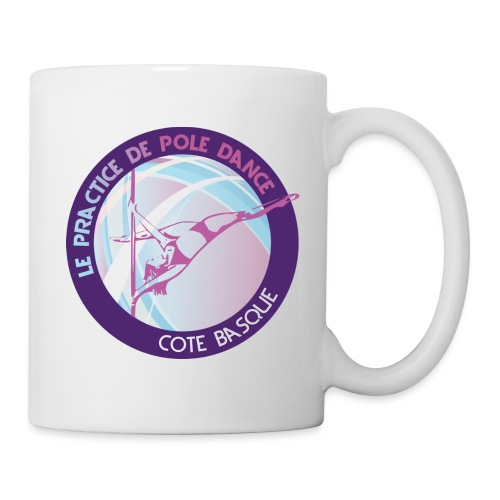 Logo poledance violet - Mug blanc