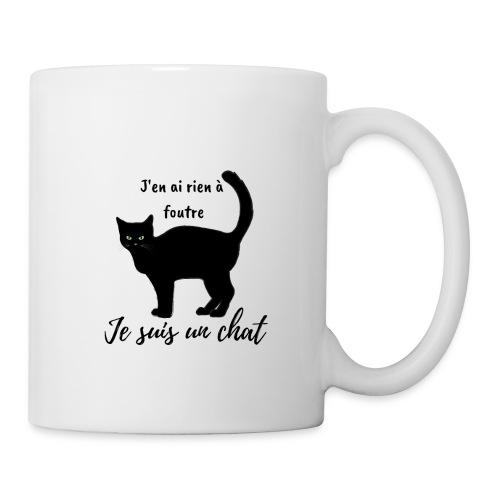 Rien a foutre, je suis un chat ! - Mug blanc