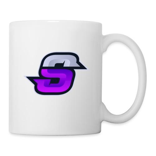 S navey 2 violet - Mug blanc