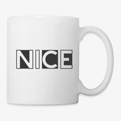 NICE Logo grau - Tasse