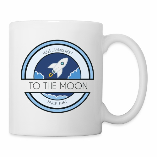 CryptoLoco - To the MOON ! - White - Mug blanc