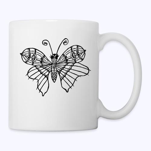 Schmetterling schwarz - Tasse