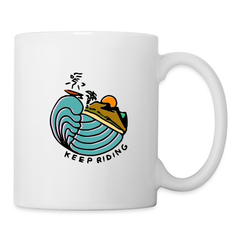 Surfeur au Couchant - Mug blanc