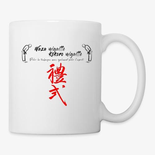 'Waza migaitte, Kokoro migaitte'' - Mug blanc