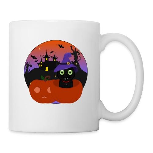 Halloween & the cat - Mug blanc