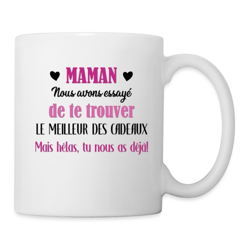 Maman, meilleur des cadeaux - Mug blanc