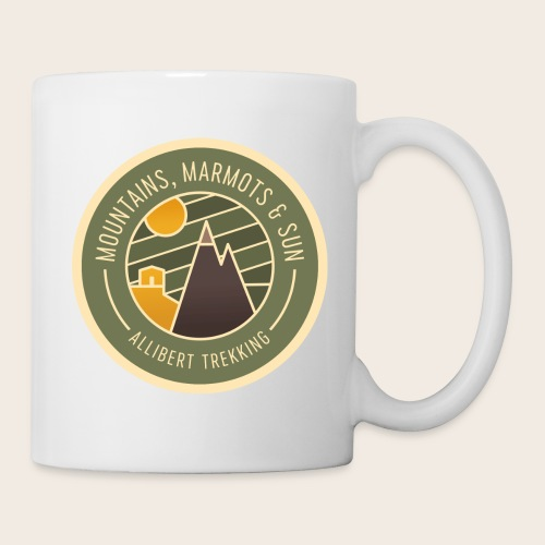 Mountains, Marmots & Sun - Badge - Mug blanc