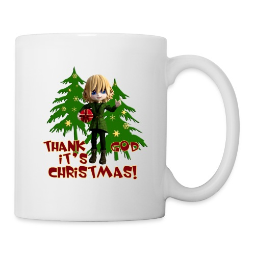 Weihnachtself Thank God it´s Christmas! - Tasse