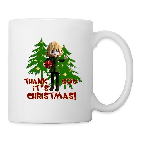 Weihnachtself Thank God it´s Christmas! - Tasse